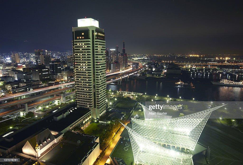 Skyline over Kobe : Stock Photo