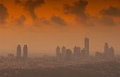Istanbul skyscrapers at sunset - Turkey