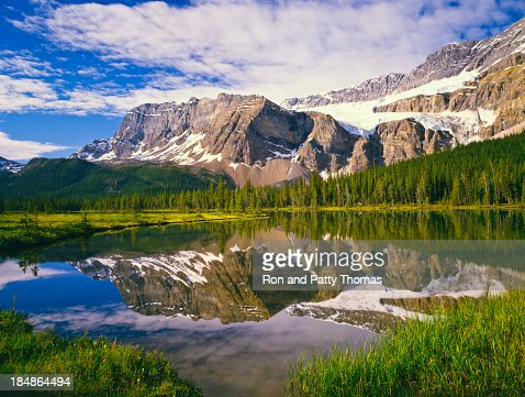 Skyline picture of the Canadian Rockies
