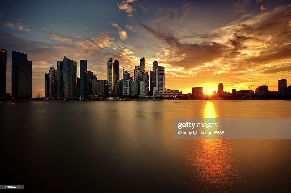 Skyline (Central Business District) Sunset : Stock Photo