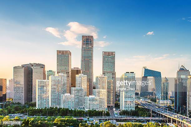 Skyline view of Beijing Central Business District
