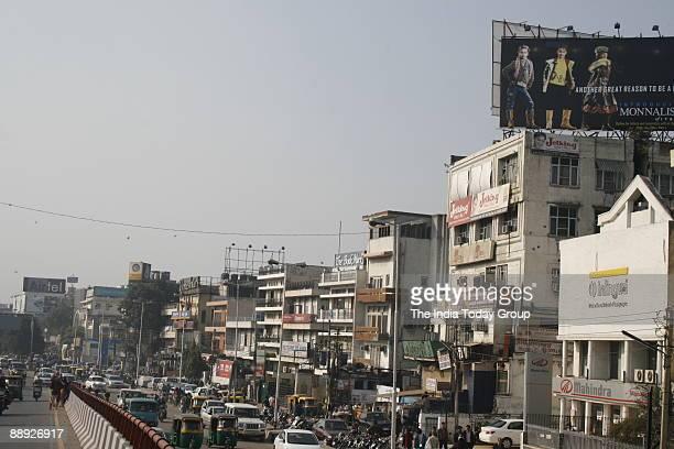 A skyline view of South Ex market New Delhi