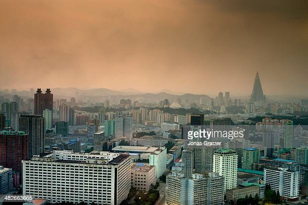 A skyline view of the capital city of North Korea Pyongyang 60 years after the Korean War it is clear that not much has changed in North Korea The...