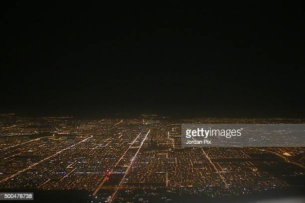 A skyline view of the city on December 8 2015 in Riyadh Saudi Arabia The Kingdom of Saudi Arabia was founded in 1932 by Ibn Saud and is ruled by a...