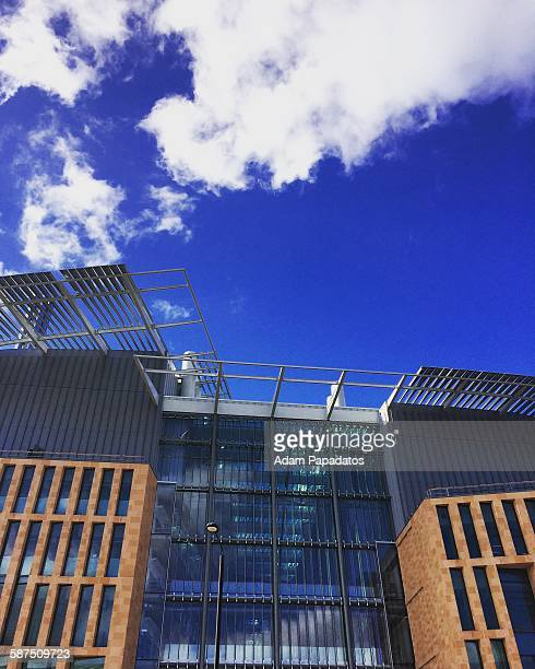 Skyline view of the new Francis Crick Institute building on Midland Road in London