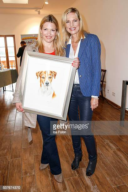 SkyModerator Jessica Kastrop as the New VDHAmbassador for dogs 2016 and Moderator and former VDHAmbassador for dogs Nina Ruge during the...