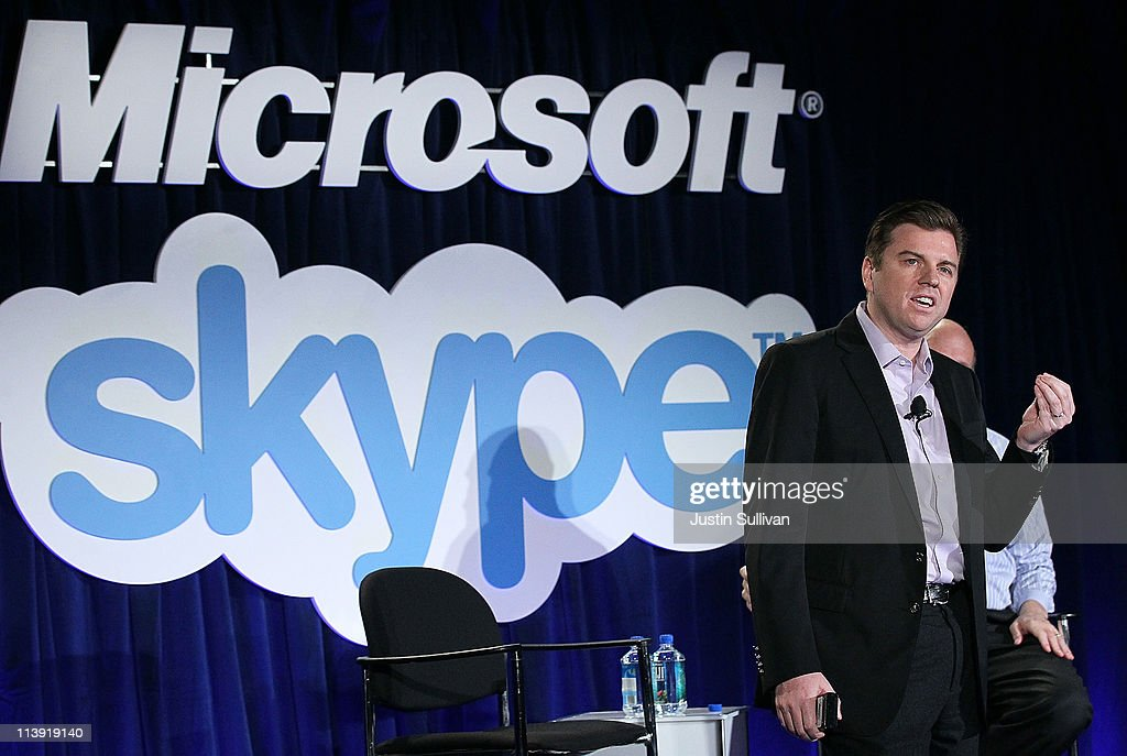 Skype CEO Tony Bates speaks during a news conference about Microsoft's purchase of Skype on May 10, 2011 in San Francisco, California. Microsoft has agreed to buy Skype for $8.5 billion.