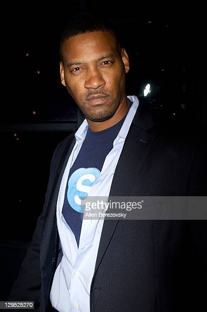 Skype man Darren Miller attends the Pearl Records Group CD release party for Platters star Kris Lamans And Lisa Rine at STK on October 17 2011 in Los...