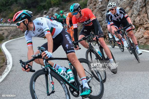 Sky's British rider Christopher Froome rides on the sixth stage of the 97th Volta Catalunya 2017 a 1897km from Tortosa to Reus in Bot on March 25...