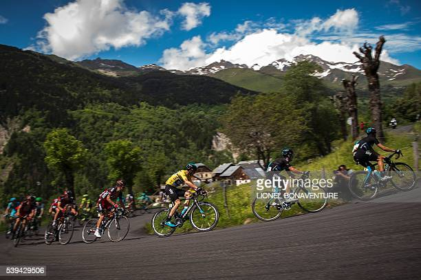 TOPSHOT Sky's English rider Christopher Froome rides during the seventh stage of the 68th edition of the Dauphine Criterium cycling race on June 11...