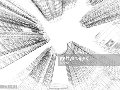 Skyscraper Architecture Blueprint Stock Photo Getty Images