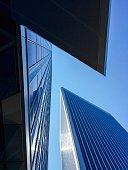 Skyscraper buildings in Century City Los Angeles California Shot on July 9 2015