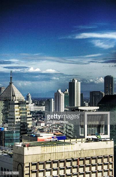 Skyscraper Buildings with Blue Sky