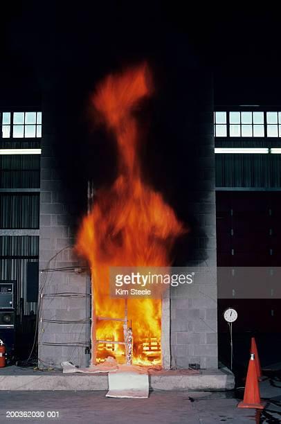Skyscraper fire test