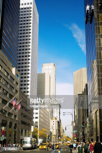 Skyscraper in a city, Fifth Avenue, Manhattan, New York City, New York State, USA : Foto de stock