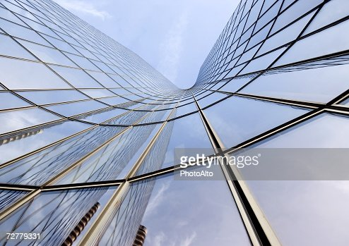 Skyscraper, low angle, abstract view : Stock Photo