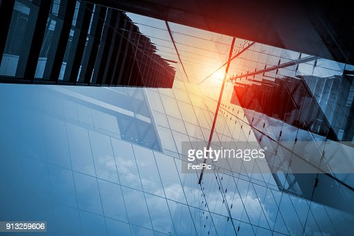 Skyscraper or modern building in the city with sunlight : Stock Photo