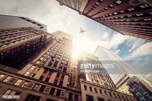 Skyscraper with a airplane silhouette