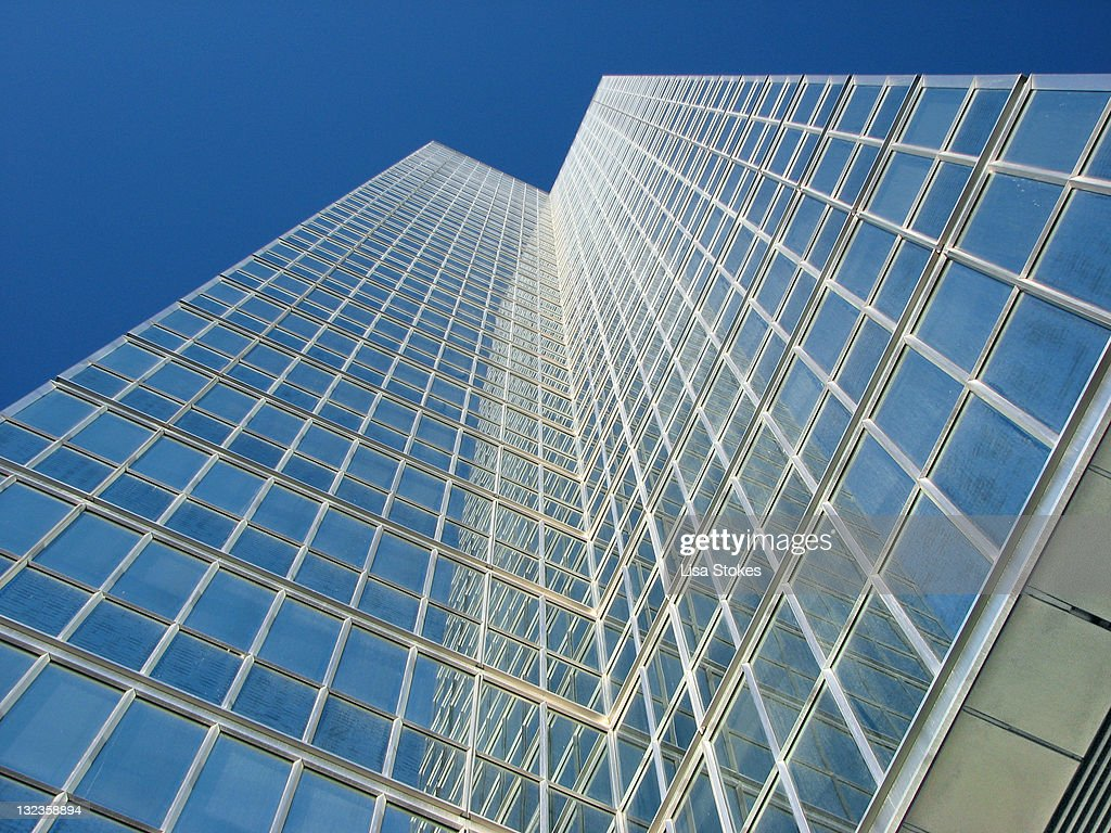 Skyscraper with clear sky : Stock Photo
