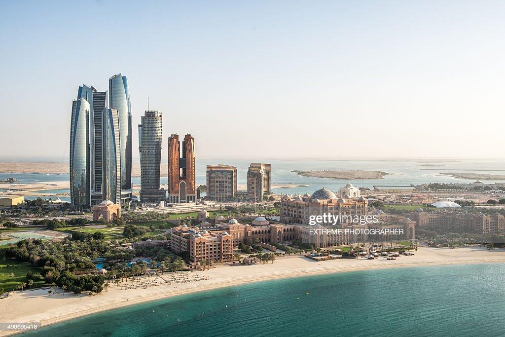 Skyscrapers and coastline in Abu Dhabi