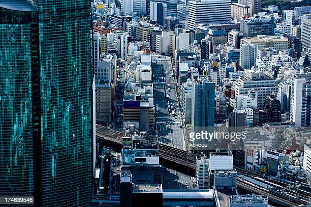 Skyscrapers and the bustle of Tokyo.