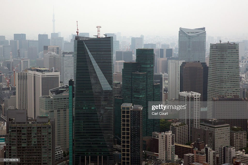 Skyscrapers are pictured from the top of the Roppongi Hills Mori Tower on May 02, 2016 in the Roppongi area of Tokyo, Japan. The Greater Tokyo Area is the most populous metropolitan area in the world with a population of 13,506,607 and is currently ranked first in the world in the Safe Cities Index.