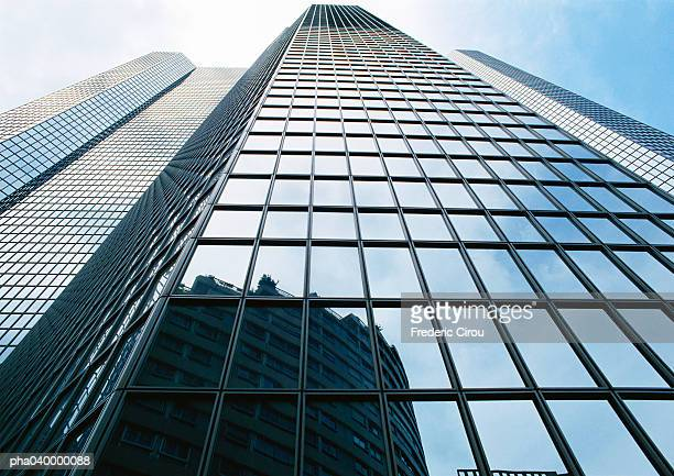 Skyscraper's facade, low angle view