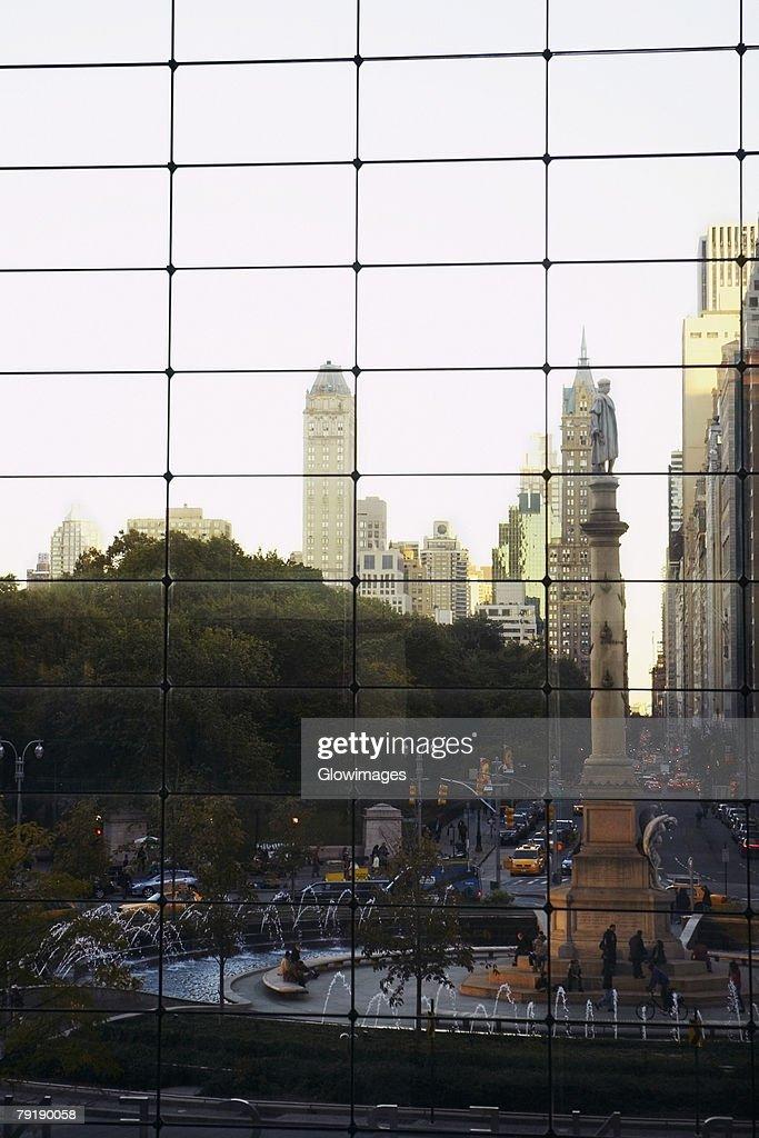 Skyscrapers in a city, Columbus Circle, Manhattan, New York City, New York State, USA : Foto de stock