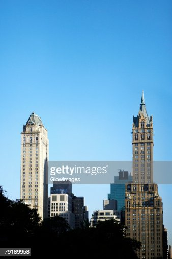 Skyscrapers in a city, Empire State Building, Manhattan, New York City, New York State, USA : Stock Photo