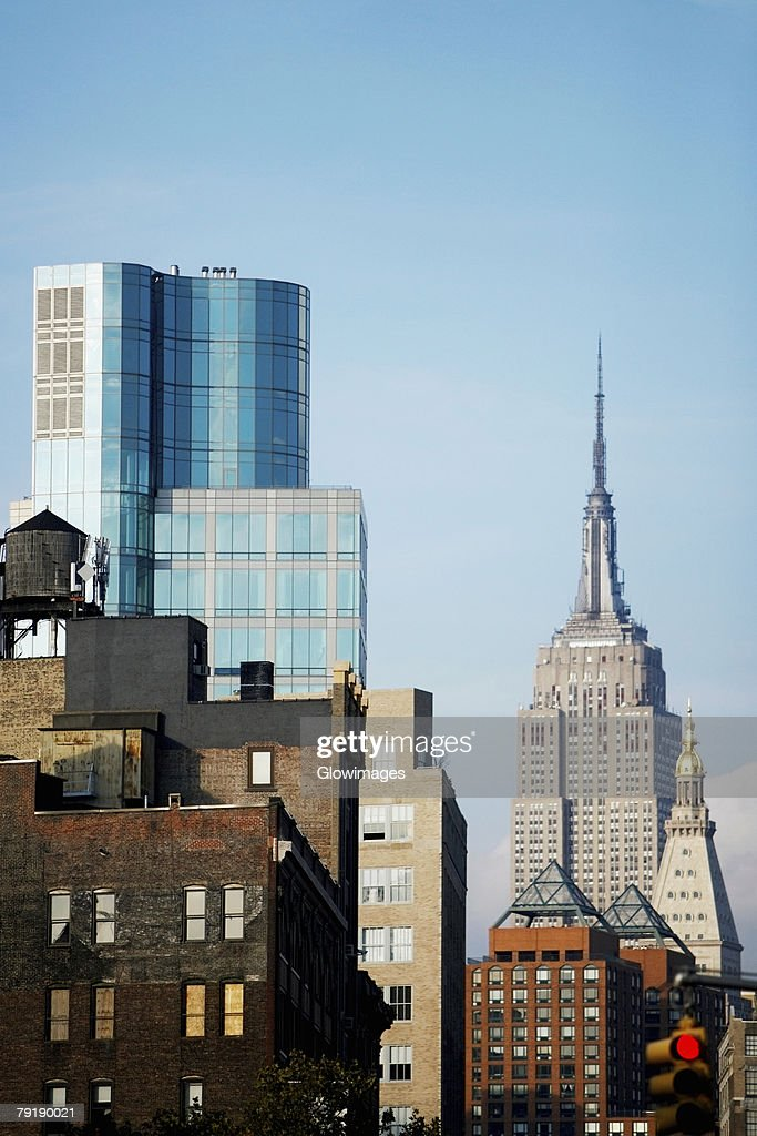 Skyscrapers in a city, Empire State Building, Manhattan, New York City, New York State, USA : Foto de stock