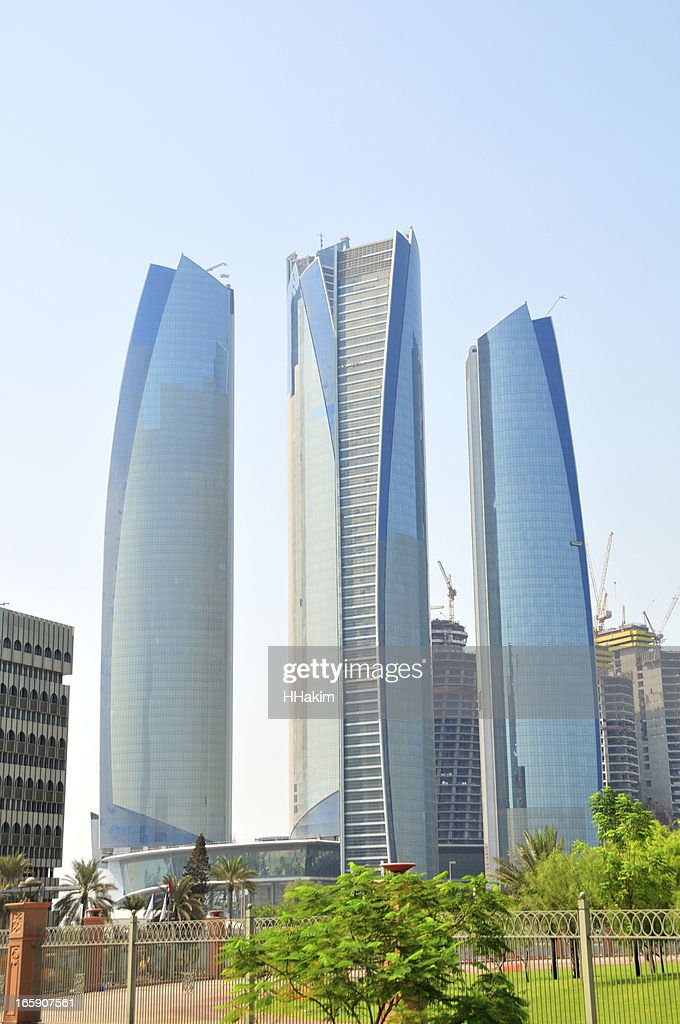 Skyscrapers in Abu Dhabi : Stock Photo