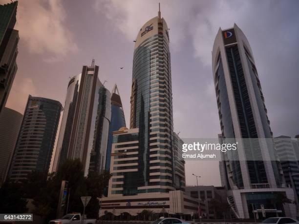 Skyscrapers in Doha City Center, Qatar - February 3, 2017