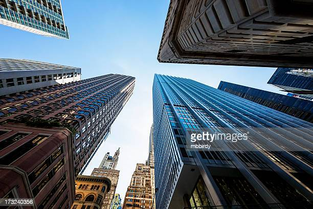 Skyscrapers in New York City financial district, Lower Manhattan