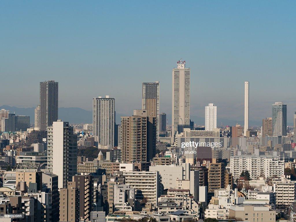 Skyscrapers in Tokyo Ikebukuro : Stock Photo