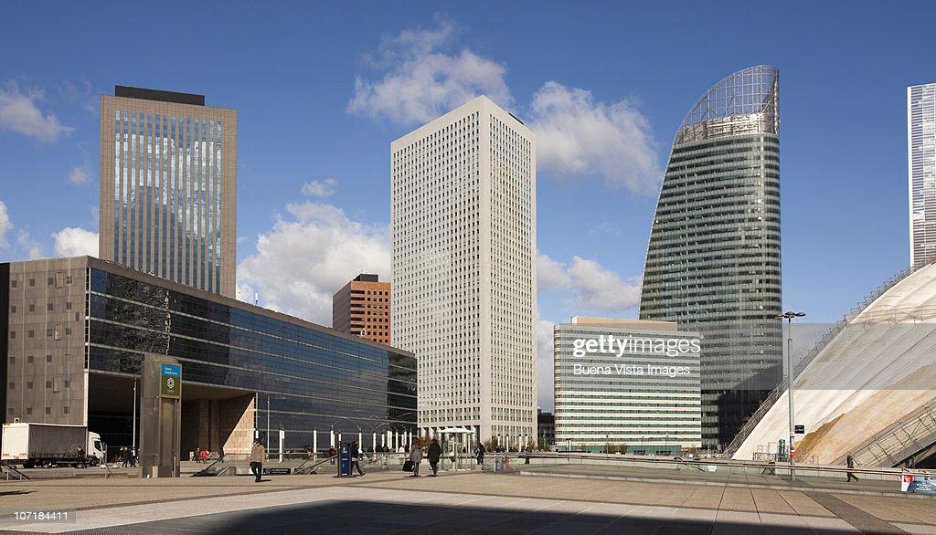Skyscrapers including Tour T1 at La Defense.