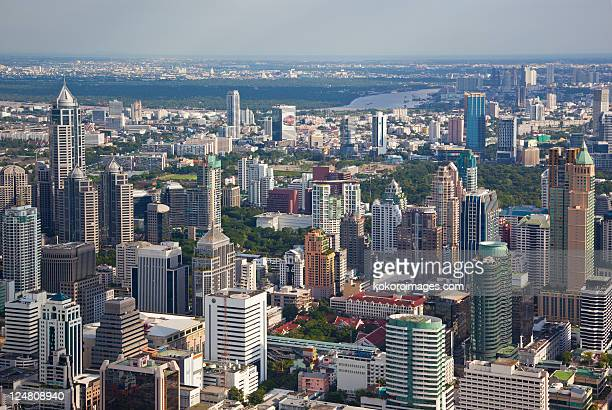 Skyscrapers of Bangkok with Chao Phraya River