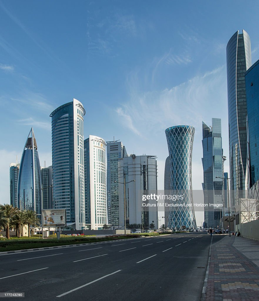 Skyscrapers of downtown Doha, Qatar : Stock Photo