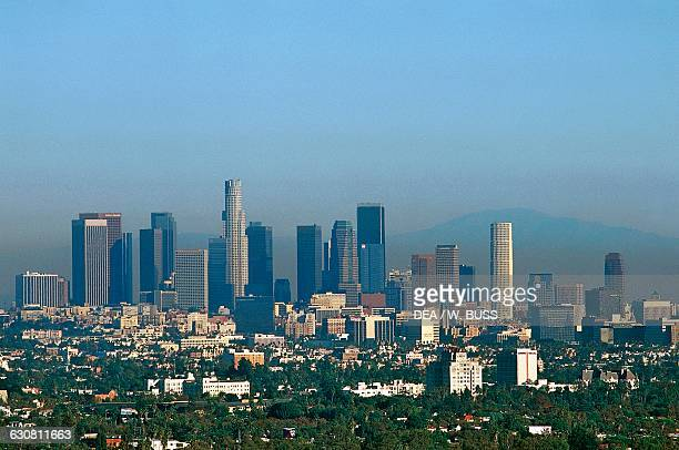 Skyscrapers of Downtown Los Angeles administrative and financial district of the city California United States of America