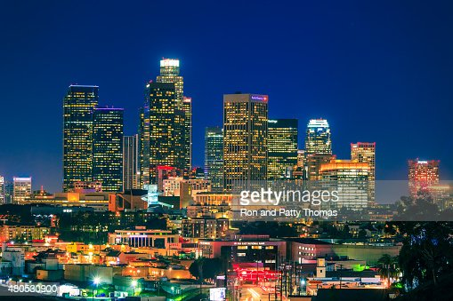 Skyscrapers of Los Angeles skyline,architecture,urban,cityscape : Stock Photo