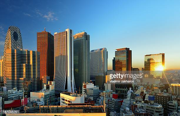 Skyscrapers of Shinjuku at sunrise