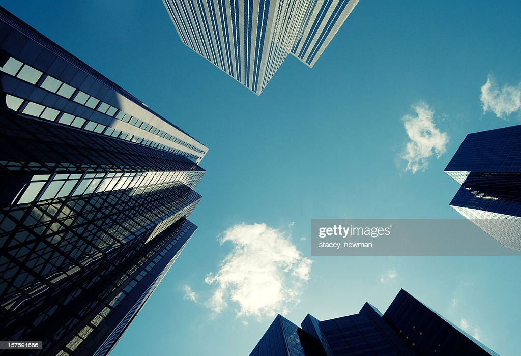 Skyscrapers on Blue : Stock Photo