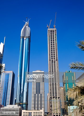 Skyscrapers on Dubai Financial District