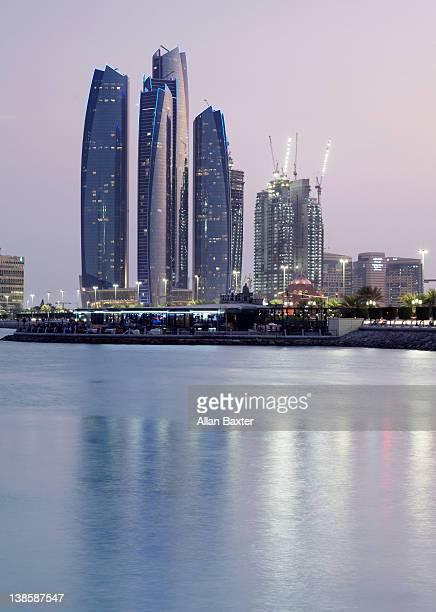 skyscrapers overlooking marina