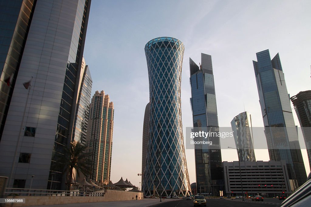 Skyscrapers stand on the city skyline in Doha, Qatar, on Thursday, Nov. 22, 2012. Qatar Telecom QSC, the country's biggest company by revenue, is seeking a syndicated loan for about $1 billion to refinance existing debt, according to a person with direct knowledge of the deal. Photographer: Gabriela Maj/Bloomberg via Getty Images