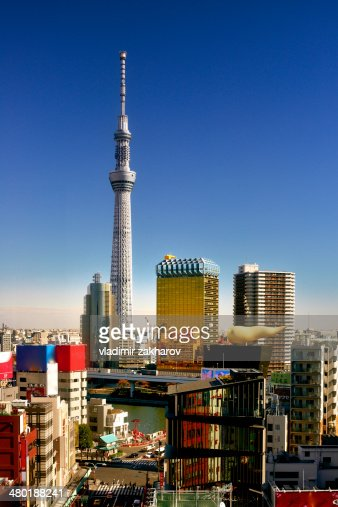 Skytree Tower and Asakusa district