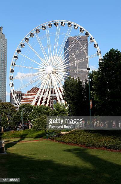 Skyview Atlanta Ferris Wheel on July 17 2015 in Atlanta Georgia