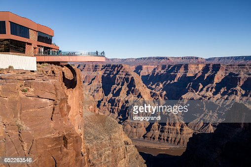 Skywalk observatory at Grand Canyon West Rim - Arizona, USA : Stock Photo