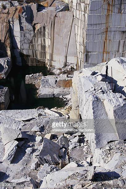 Slabs in granite quarry