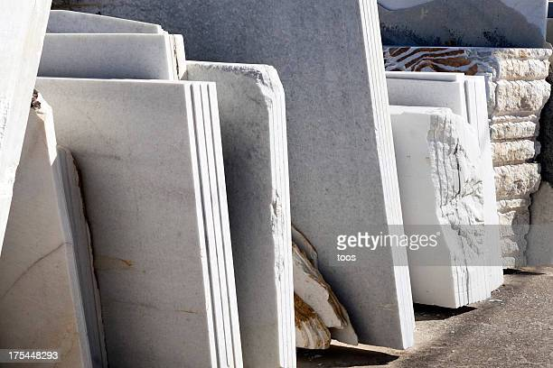 Slabs of Marble in a quarry
