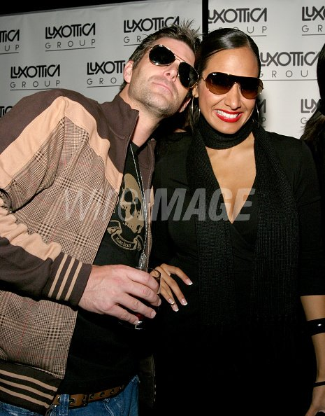 b2fe2f1ce5 Slade Smiley and Jo de la Rosa in Ray Ban sunglasses in the Luxottica Group  Lounge at the Stuff Style Awards (Photo by Amy Tierney WireImage for Stuff  ...